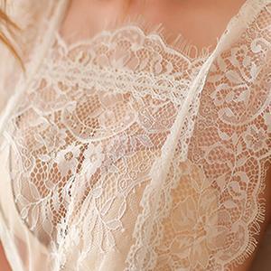 Image 5 - 아이린 TINNIE 섹시한 잠옷 여성 2 조각 세트 투명 빛 얇은 유혹 레이스 속옷 우아하고 낭만적 인 Nightdress