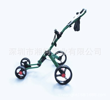 Golf Push Cart Swivel Foldable 4 Wheels Pull Cart Golf Trolley With Umbrella Stand Golf Cart Bag Carrier Golfkarretjes