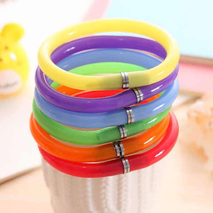 1 sztuk Kawaii kolorowa bransoletka długopis magiczny Pilot długopis szkolne materiały biurowe do pisania szkolne materiały papiernicze długopis