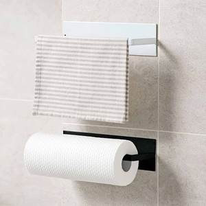 Towel-Holder Storage-Rack Kitchen Stainless-Steel Bothroom Home Multi-Linked Non-Perforated