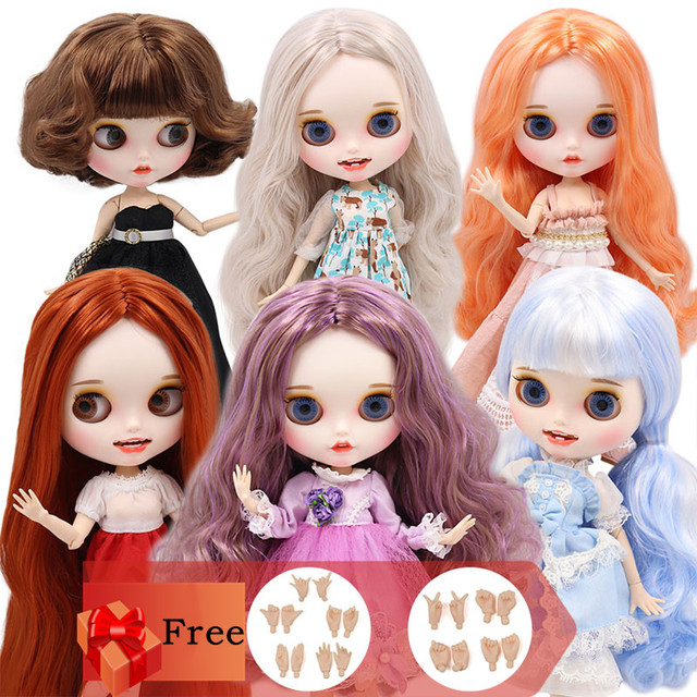 ICY Blyth  custom doll with hands set joint body new smile mouth Matte face 1/6 BJD toys DIY Fashion Dolls girl gift special off
