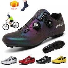 Chaussures de cyclisme hommes route vélo baskets lumineux Sport de plein air ultra-léger Sapatilha Ciclismo Hombre auto-verrouillage Spd vélo chaussures