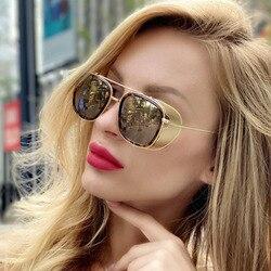 Fashion Steampunk Sunglasses Brand Designer Women Men Vintage Metal Sun Glasses UV400 Sunglass Shades Eyewear Oculos de sol
