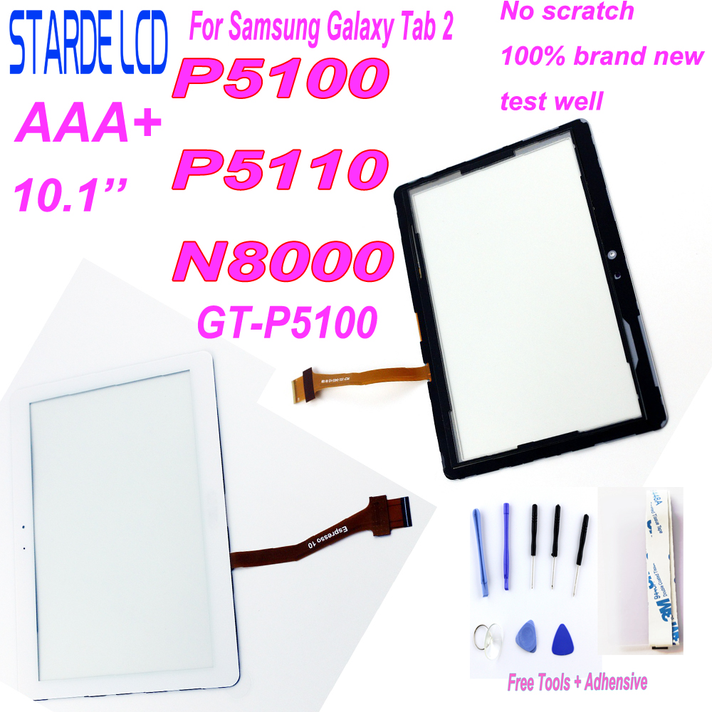 New 10.1'' Inch For Samsung Galaxy Tab 2 GT-P5100 P5100 P5110 P5113 N8000 Touch Screen Glass Panel Digitizer Replacement