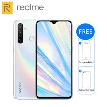 Перейти на Алиэкспресс и купить Оригинальный Новый Realme Q 4 Гб 64 Гб 6,3 ''мобильный телефон Snapdragon 712 AIE Octa Core 48MP Quad Camera 20W Быстрый Зарядное устройство смарт-чехол для телефона