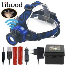 Litwod Z30 2308 Q5 Led Bright Headlamp Head Light Head Flashlight LED Headlight Build-in Rechargeable Battery Head Lamp Zoomable