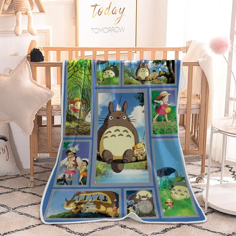 Cartoon Totoro Blanket Plaid Plush Fleece Blanket Soft Warm Bed Throw Blankets 150x200cm Quilt Air condition Weighted Blanket