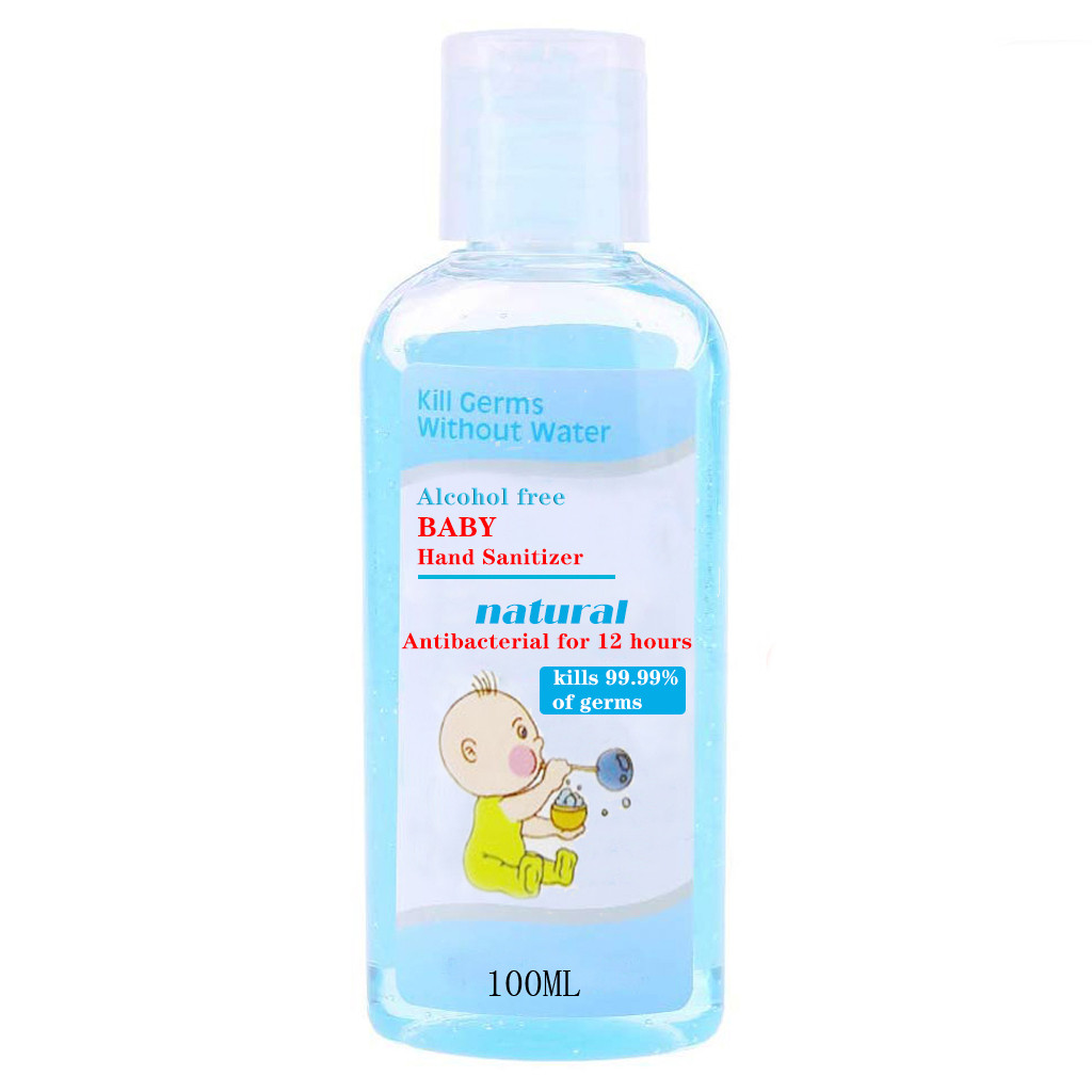 100ml Anti Bacterial Disposable Hand Sanitizer Hand Disinfection Gel Quick-Dry Handgel 75% Ethanol For Kids Adults Bathroom