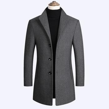Fashion plus size men's jacket trench coat 1