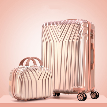Travel suitcase with spinner wheels Women trolley luggage set 20 inch carry on suitcase 29''high-capacity zip aluminium frame