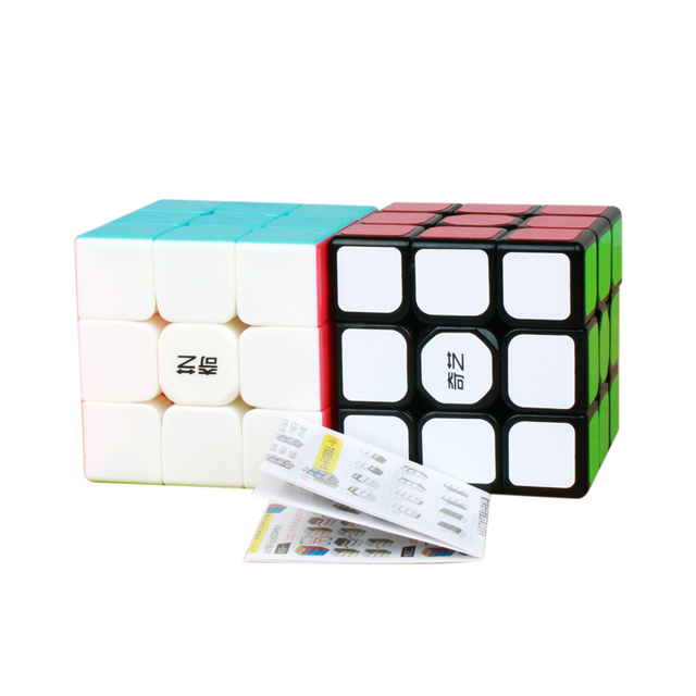 QiYi 3x3x3 Sail Magic Cube Warrior W Speed QiYi Cube stickerless Professional Puzzle Cubes Educational Toys For Children 6