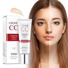 Efero bb creme corretivo, base de maquiagem cc, cosméticos coreanos para cobertura de maquiagem, contorno, base, creme de fundação