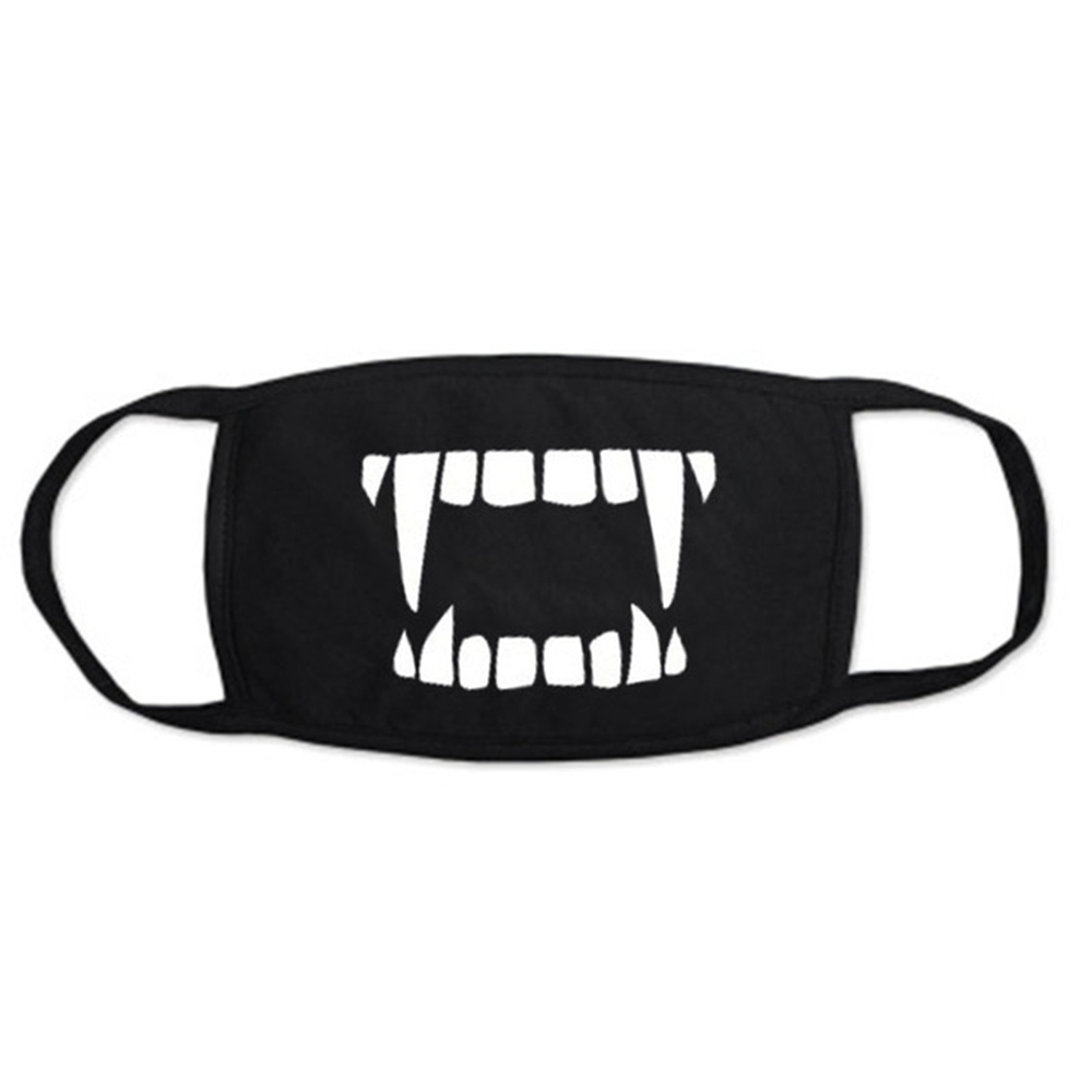 New Korean Kpop Cotton Fabric Mouth Face Mask Dustproof Cool Black Mask 3 Layers 1Pcs