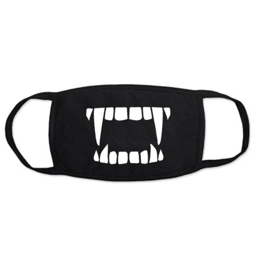 New Korean Kpop Cotton Fabric Mouth Face Mask Dustproof Cool Black Mask 3 Layers 1Pcs