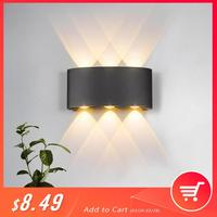 Moderna lâmpada de parede led 2 w 4 6 arandelas parede escada interior luminária cabeceira loft sala estar para cima baixo casa corredor lampada|Luminárias de parede| |  -