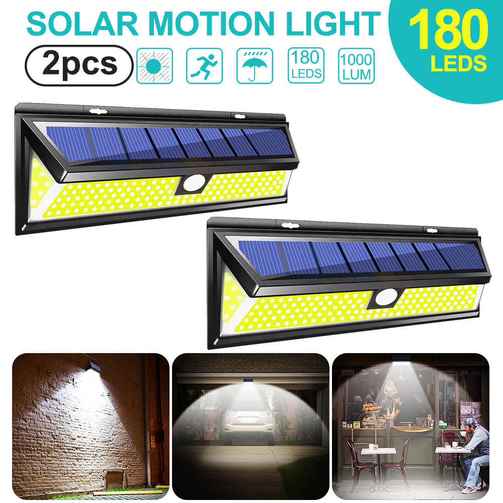 180 Tenaga Surya LED MOTION SENSOR Lampu COB 3 Mode Outdoor Taman Yard Tahan Air Hemat Energi {Country} Solar Lampu Dinding