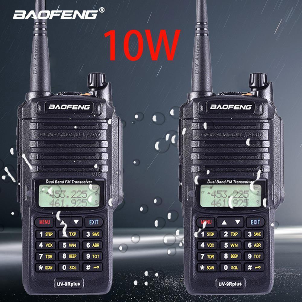 2pcs Baofeng NEW UV-9R Plus High Power Upgrade Waterproof IP67 Walkie Talkie 10w For Two Way Radio Long Range 10km 4800mah