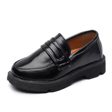 New Boys Leather Shoes British Style School Performance Kids