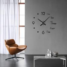 Akrylowy zegar ścienny nowoczesny artystyczny sens Design zegar Alarm Nightlight zegar do domu wystrój salonu remont domu tanie tanio CN (pochodzenie) Nowoczesne HL25656 circular Akrylowe 90cm Pojedyncze twarzy 900mm 285g QUARTZ 5 8mm Martwa natura Antique style
