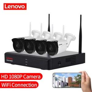 Image 5 - Lenovo 4ch array hd câmera sem fio vigilância, residencial, sistema dvr, 1080p cctv, wi fi, full hd nvr kit de vigilância avaliado