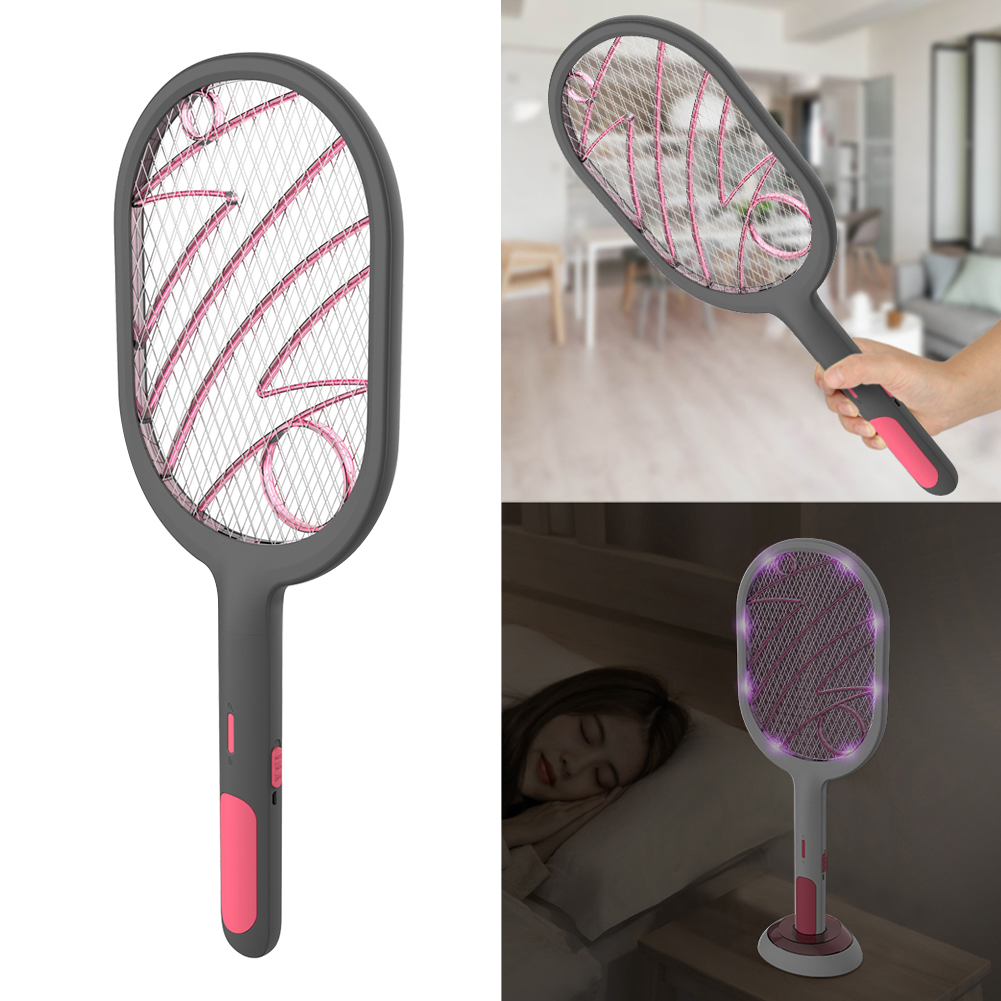 3000V Electric Insect Racket Swatter Zapper USB 1200mAh Rechargeable Mosquito Swatter Kill Fly Bug Zapper Killer Trap