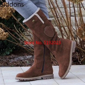 morazora plus size 34 43 new keep warm ankle snow boots round toe pu soft leather platform shoes woman sweet women winter boots Hot Sale snow Boots Women Ladies Fashion flat Round Toe  Woman leather Shoes 2019 Winter Large Size 34-43  platform boots D320