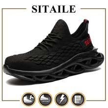 Защитная обувь sitaile для мужчин и женщин рабочие ботинки со