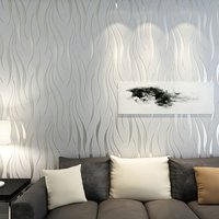 10M Elegant Ripple Wall Paper Bedroom Study Dinning Hall Wall Poster TV Backdrop Wall Decoration Sticker Home Office Ornament