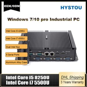 Intel Core i5 8250u Quad Core minipc dual nuc i7 5500U Windows 10 Linux Industrial Computer COM HDMI VGA j1900 Thin Client