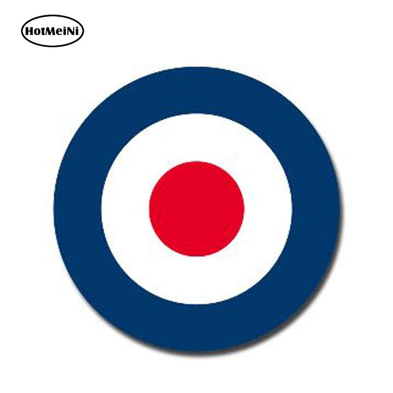 HotMeiNi 13cm X 13cm Glossy Vinyl Stickers RAF Roundel The Who Mod Target Vespa Reflective Car Sticker Waterproof Car Styling