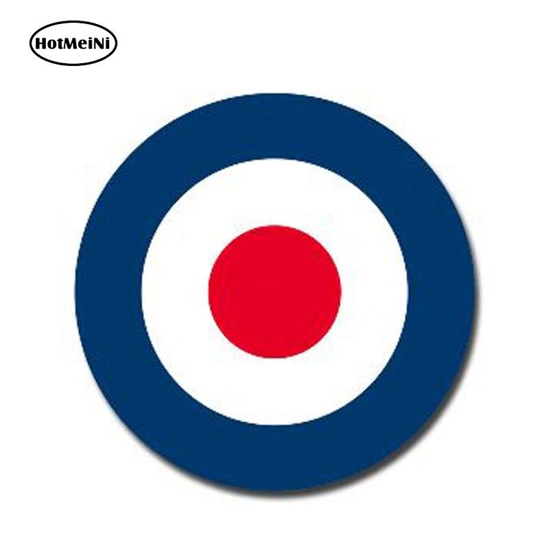 HotMeiNi 13cm X 13cm Glossy Vinyl Stickers RAF Roundel The Who Mod Target Vespa Reflective Car Sticker Waterproof Car Styling