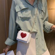 Fashion Heart-shaped Mini Crossbody Bag For New Women PU Leather Candy Color Shoulder Bag Handbag Cross Body Chain Messenger Bag novelty flamingo shaped crossbody bag