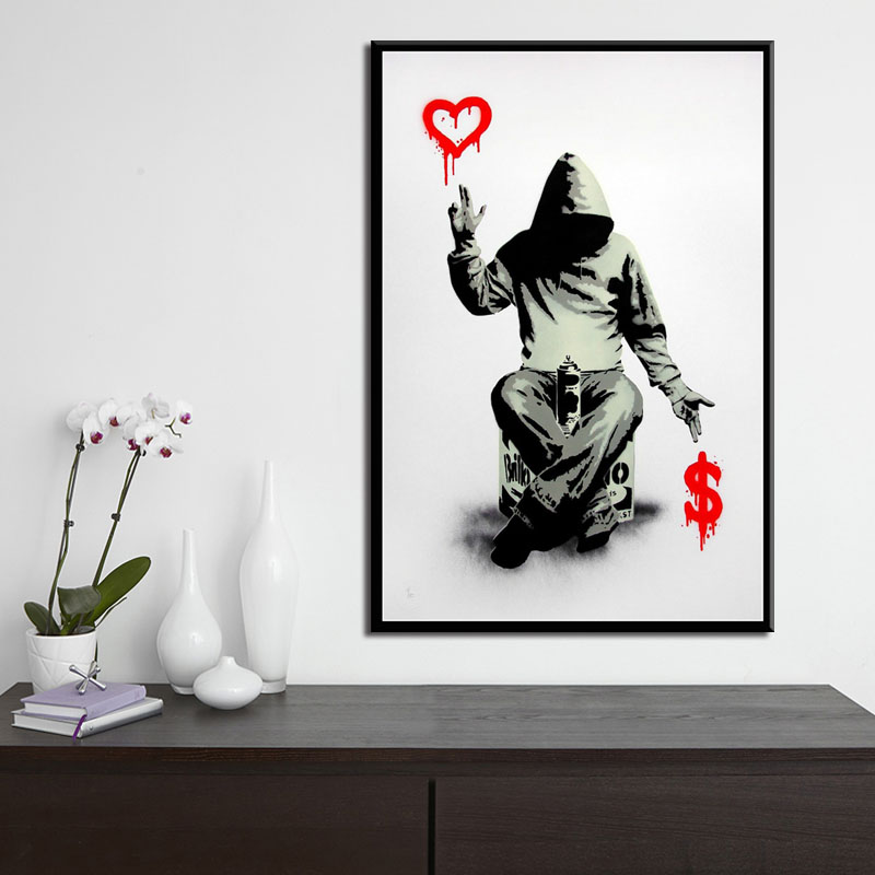 Picture Graffiti Modern Art Street Art Canvas Painting Giant Poster Mural Now Home Living Room Bedroom Decor
