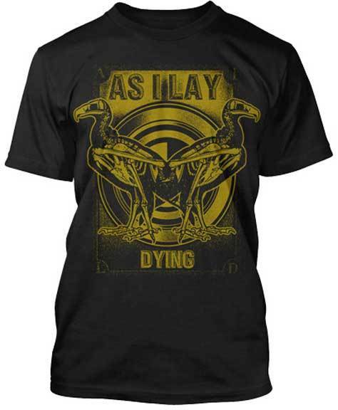 As I Lay Dying T-Shirt Vulture Logo metalcore band merch image
