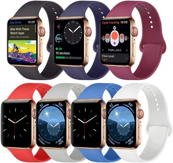 Silicone Band for Apple Watch Replacement Bands 38/40/42/44mm For Women Men iwatch Sport Strap Compatible With Series 5/4/3/2/1 soft silicone sport band for apple watch series 2 replacement strap for apple iwatch two colors sport band joyozyluxury bands
