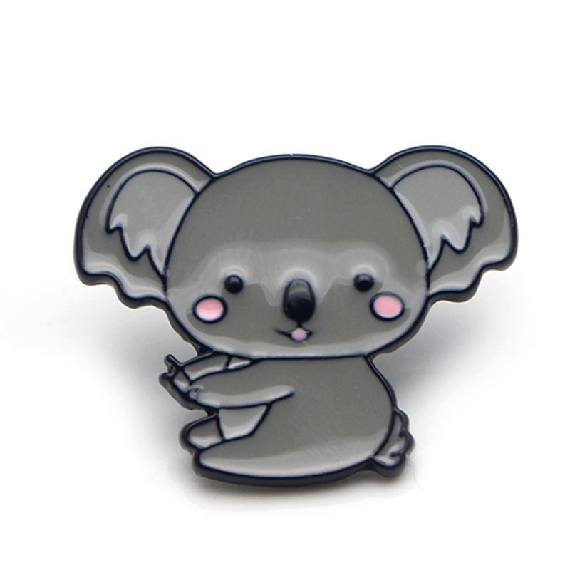 Koala fashion cartoon cute Zinc alloy tie pins badges para shirt bag clothes cap backpack shoes brooches for men or wemen E0391 in Badges from Home Garden