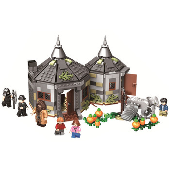 11343 Magic Movie Potter Hagrid's Hut Buckbeak's Rescue Building Blocks Kits Bricks Set Classic Model Kid Toys For Children Gift image