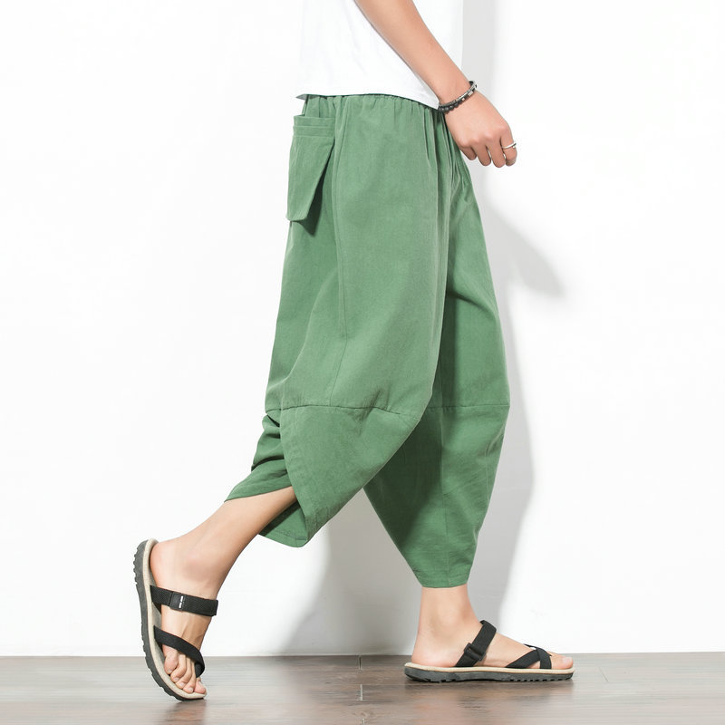 19 New Style Large Size Loose-Fit Baggy Pants Men's Harem Pants Cool Loose Pants Loose Casual Pants