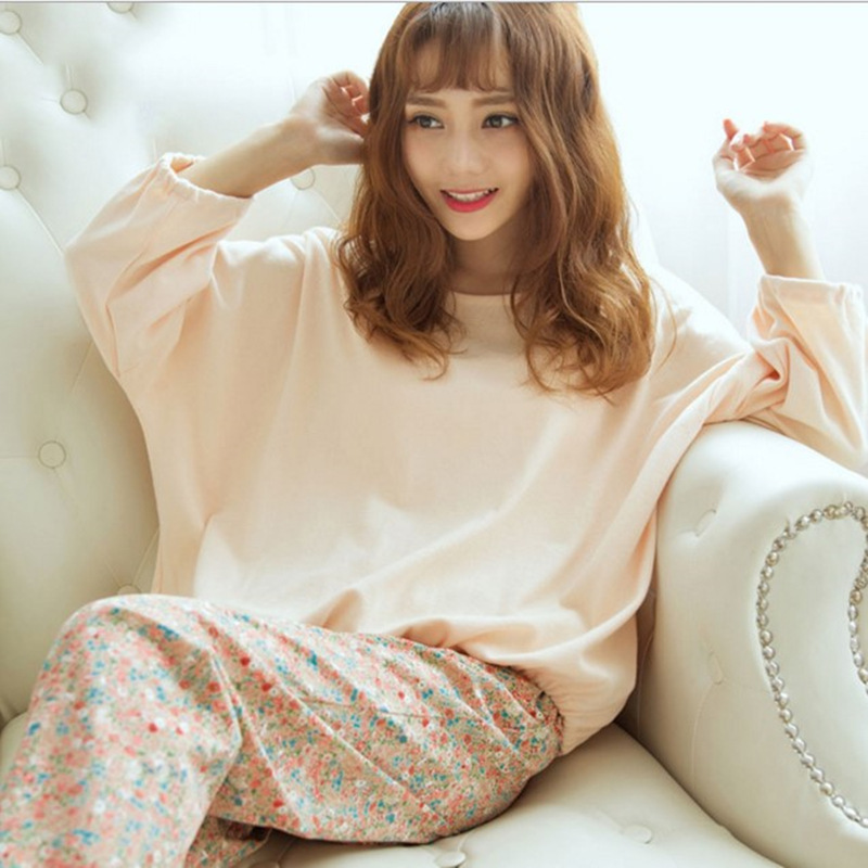 Long Sleeve Pajamas Women's Spring And Autumn Cartoon Pure Cotton Cute GIRL'S Pajamas Female Winter Home Wear Pink Set