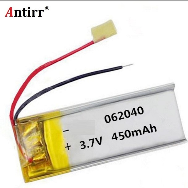 <font><b>3.7V</b></font> <font><b>450mAh</b></font> 602040 Lithium Polymer Li-Po li ion Rechargeable Battery cells For Mp3 MP4 MP5 GPS PSP mobile bluetooth free shiping image