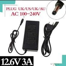 12.6V 3A Snel Opladen Lithium Li Ion Batterij Oplader 5.5*2.1Mmplug Voor 3 Serie 10.8V 11.1V 12V Lithium Li Ion Polymeer Batterry