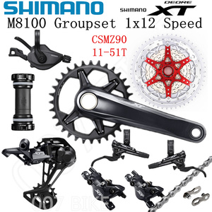 Image 2 - SHIMANO DEORE XT M8100 Groupset 32T 34T 36T 170 175mm Crankset אופני הרי 1x12 Speed CSMZ90 m8100 אחורי הילוכים