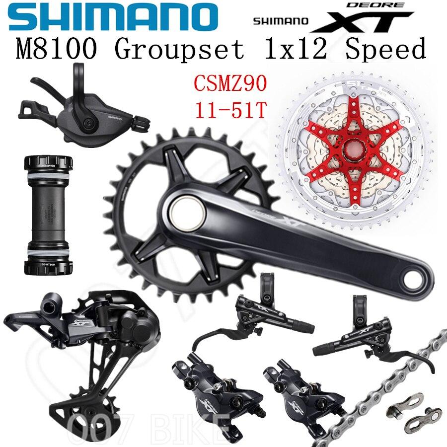 Image 2 - SHIMANO DEORE XT M8100 Groupset 32T 34T 36T 170 175mm Crankset Mountain Bike Groupset 1x12 Speed CSMZ90 M8100 Rear DerailleurBicycle Derailleur   -