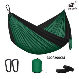 Image 5 - Double Hammock Adult Outdoor/Indoor Furniture Camping Parachute Backpack Travel Survival Hunting Sleeping Portable Hanging Bed