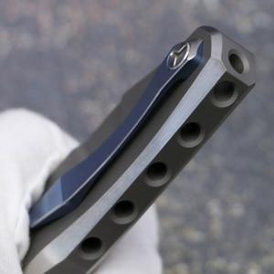 Image 5 - كيفن جون فينوم 4 الجناح الزعنفة سكين للفرد S35VN شفرة الصلبة التيتانيوم مقبض في الهواء الطلق التخييم الصيد جيب الفاكهة السكاكين EDC