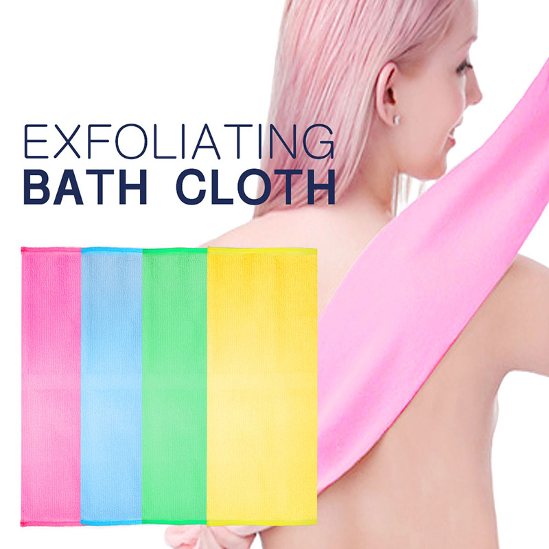Shower Exfoliating Back Scrubber Men Women Long Bath Towel Deep Clean Skin MP789