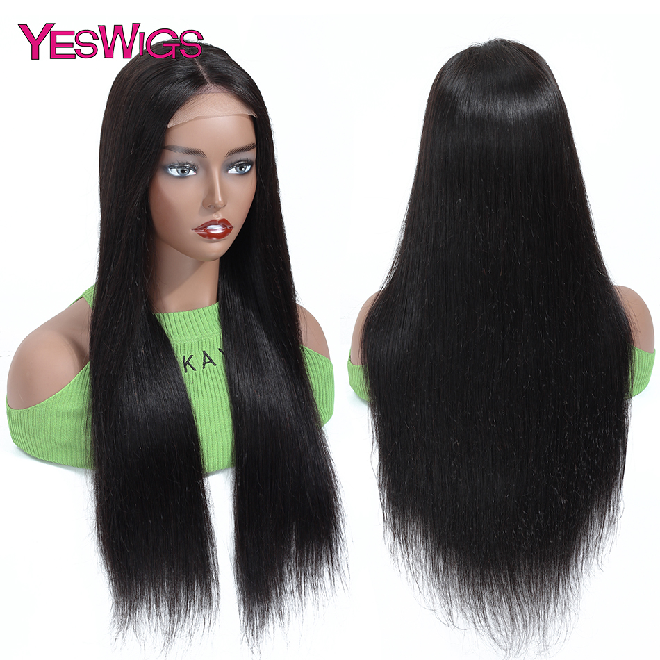 Yeswigs Hair Wig 4x4 Brazilian Straight Lace Closure Human Hair Wigs Remy Human Hair Wigs For Black Women Free Shipping