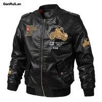 2020 Jacket Men PU Leather Jacket Motocross Racing Moto Jacket Cycling Motorbike Protection Autumn Winter Moto Clothing JK20139