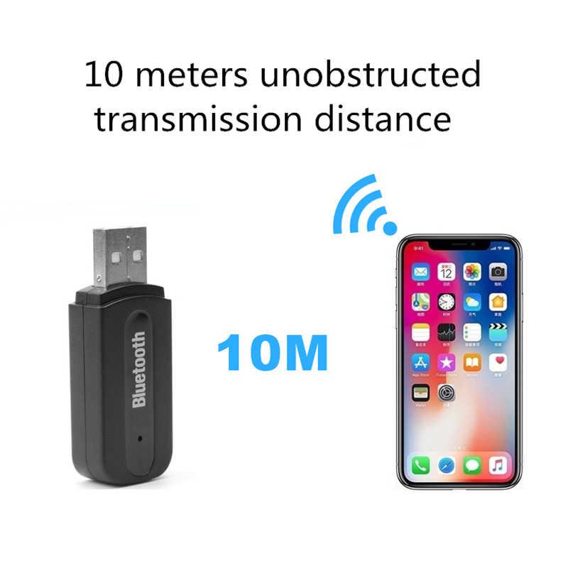 Receptor Bluetooth de 2 piezas para coche AUX 3,5mm música Bluetooth receptor de Audio inalámbrico receptor manos libres adaptador de Auto transmisor para coche