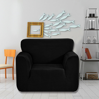 Universal soft Jacquard Stretchable Chair/Loveseat/Sofa Cover Strapless Slipcover Removable Washable Covering Mat Protector